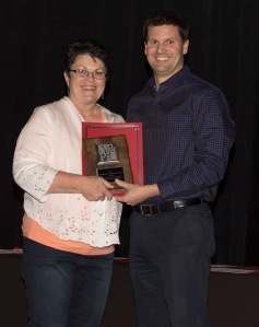 Shirley Torgerson with APPL Executive Director, Dan Puskar, at the 2014 APPL Awards.